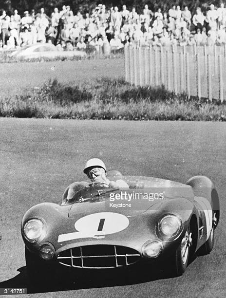 British racing driver Stirling Moss during the 1000 km race at Nurburgring Germany which he won