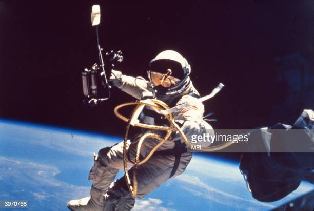 Astronaut Edward White the first American to walk in space during the Gemini IV mission He was killed in a fire on a NASA launchpad in 1967