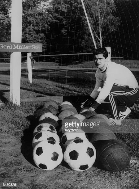 West German footballer Gerd Muller