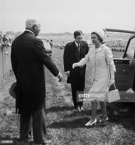 Queen Elizabeth II arrives at Epsom for the Derby race meeting.