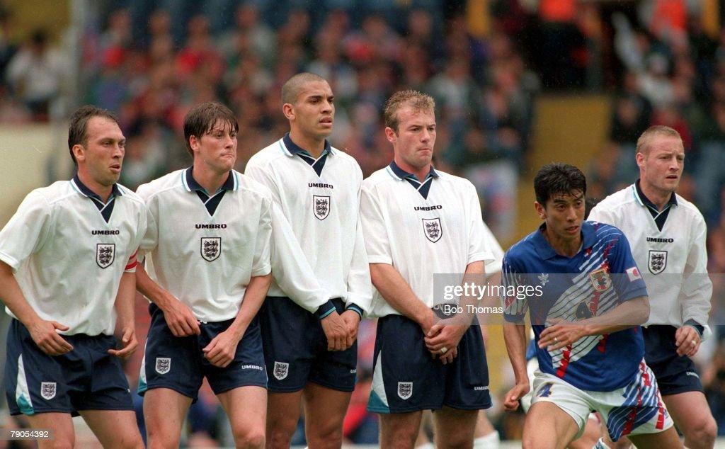 3rd JUNE 1995, Umbro Cup, Wembley, England 2 v Japan 1, England form
