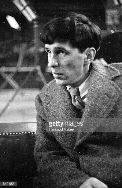 British composer Sir Michael Tippett listening to rehearsals of his Oratorio 'A Child of Our Time' at the Corn Exchange Bedford Original Publication...
