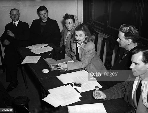 The council of Equity, the actors trade union, Ivor Ingham, Grace Rattray, Joy Fayre, Honor Blair, Gerry Fitzgerald and Victor Ranger.
