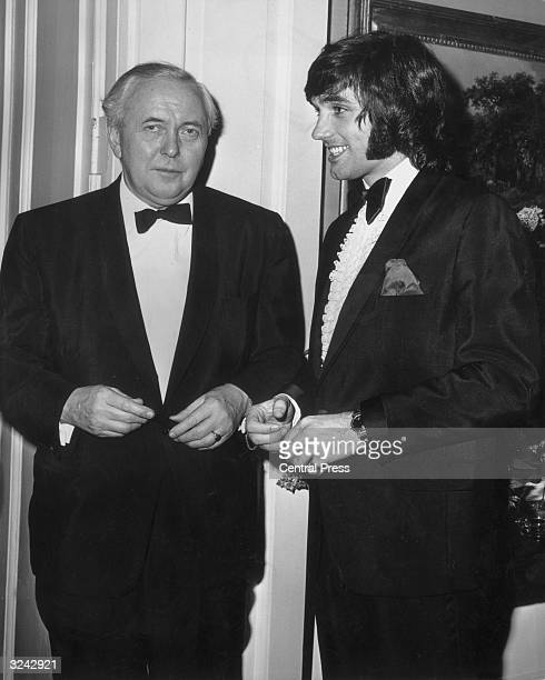 Manchester United footballer George Best at Downing Street with Prime Minister Harold Wilson