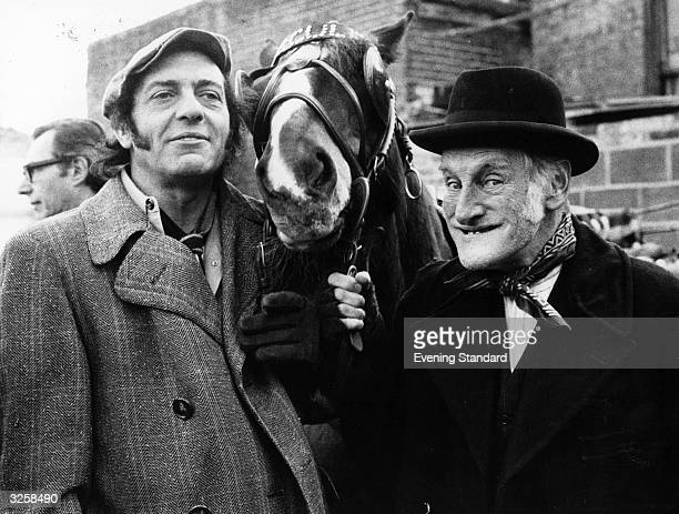 Wilfrid Brambell and Harry H Corbett with Hercules all stars in the popular tv series 'Steptoe and Son'