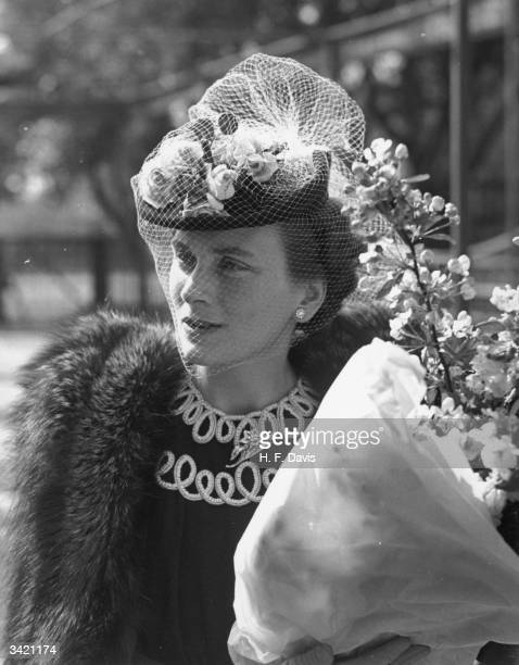 Princess Alice Duchess of Gloucester during her visit to the Central Hospital Supply Service Clearing House at Roehampton