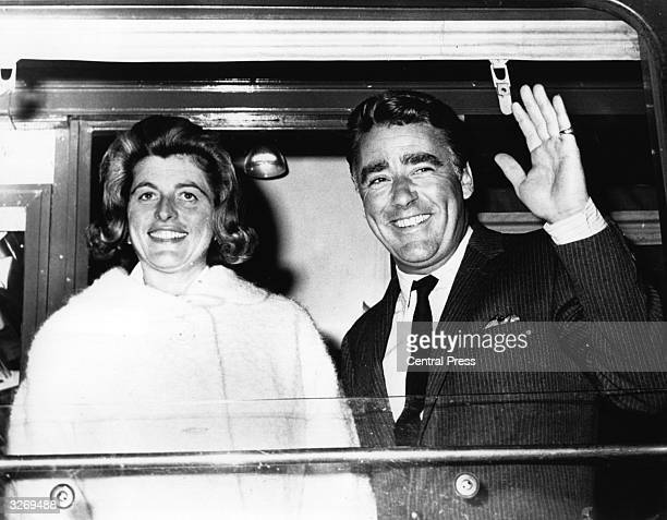 British actor Peter Lawford with his wife Pat Kennedy sister of President John F Kennedy