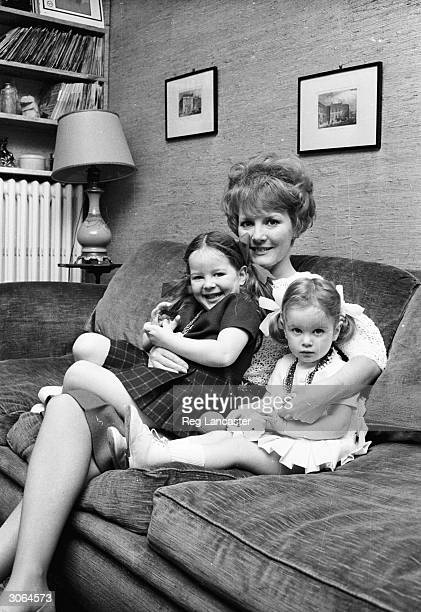 Singer Petula Clark and her two little girls
