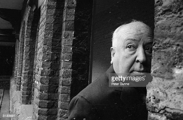 British film director Alfred Hitchcock in Cambridge