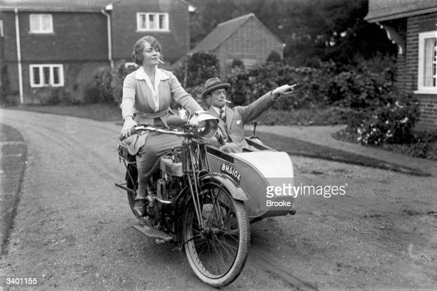 British comic actor Leslie Henson and his wife Madge Saunders at Slough.