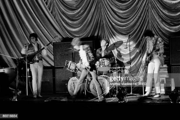 English rock group The Who perform live on stage at the Granada Cinema in KingstonuponThames London on 3rd November 1967 LR John Entwistle Roger...