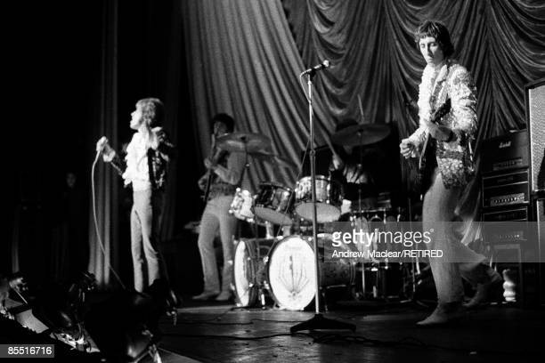 English rock group The Who perform live on stage at the Granada Cinema in KingstonuponThames London on 3rd November 1967 LR Roger Daltrey John...