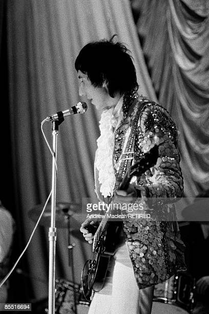 Pete Townshend from English rock group The Who performs live on stage at the Granada Cinema in KingstonuponThames London on 3rd November 1967