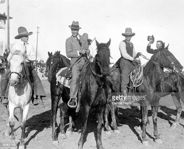The Duke of Windsor as Edward Prince of Wales riding with cowboys at Saskatoon during a royal tour He succeeded his father as King Edward VIII in...