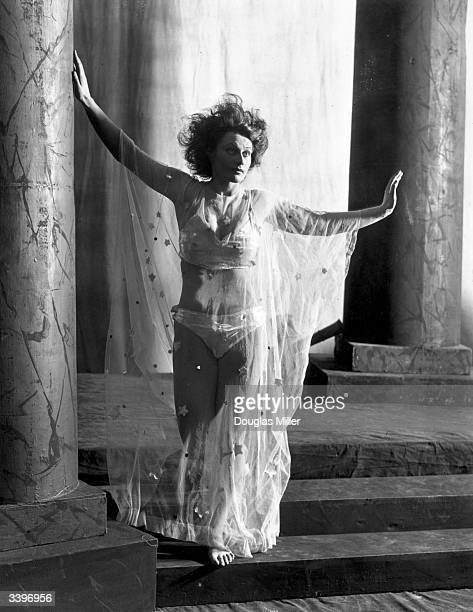 Joan Maude in a scene from the Oscar Wilde play 'Salome' at the Savoy Theatre London It is being presented for the first time since the ban on its...