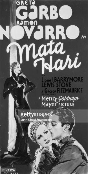 SwedishAmerican actress Greta Garbo plays the title role in the drama 'Mata Hari' directed by George Fitzmaurice Her onscreen lover is Ramon Novarro