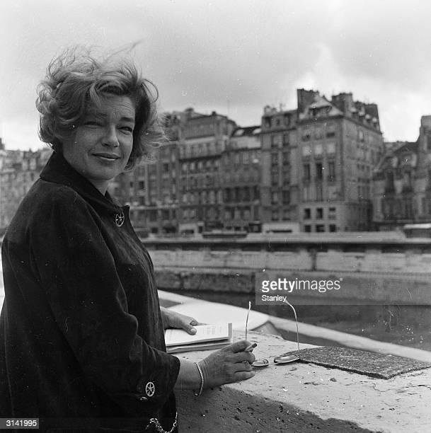 French actress Simone Signoret originally SimonHenriette Charlotte Kaminker