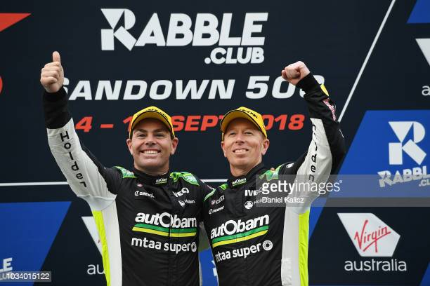 3rd place Craig Lowndes driver of the Autobarn Lowndes Racing Holden Commodore ZB and Steve Richards driver of the Autobarn Lowndes Racing Holden...