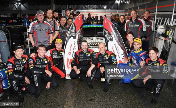 3rd place Tim Slade driver of the Freightliner Racing Holden Commodore VF and Andre Heimgartner driver of the Freightliner Racing Holden Commodore VF...