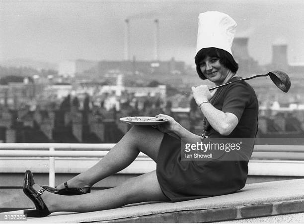 Year old Delia Smith from Woking in Surrey in a publicity shot for her British Broadcasting Corporation television series 'Family Fare'.