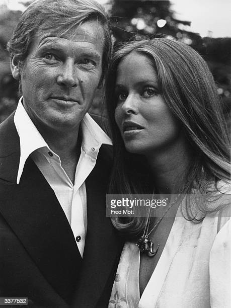 Actors Roger Moore and Barbara Bach during the filming of 'The Spy Who Loved Me' in which they play James Bond and Major Anya Amasova
