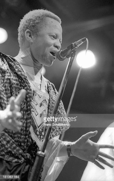 3rd SEPTEMBER: Malian singer Salif Keita performs live on stage at the Melkweg in Amsterdam, Netherlands on 3rd September 1986.