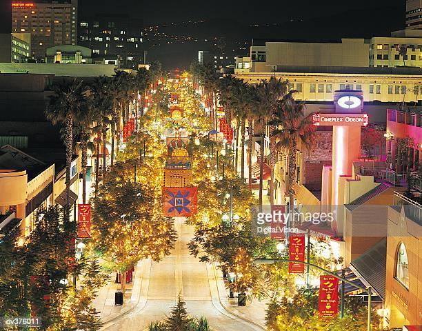 3rd street promenade, santa monica, california, usa - santa monica stock pictures, royalty-free photos & images
