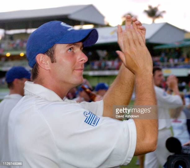 3rd TEST 3rd DAY AT THE KENSINGTON OVAL BRIDGETOWN BARBADOS ENGLAND V WEST INDIES 3/4/2004 ENGLAND WIN THE SERIES AND THE WISDEN TROPHY AFTER THE...