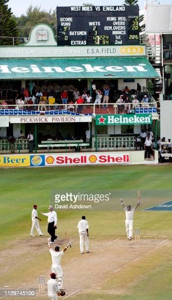 3rd TEST 3rd DAY AT THE KENSINGTON OVAL BRIDGETOWN BARBADOS ENGLAND V WEST INDIES 3/4/2004 MARK BUTCHER AND NASSA HUSSAIN WIN THE 3RD TEST AND WIN...