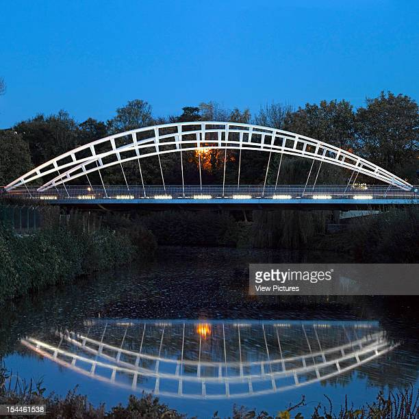 3Rd Way Bridge Taunton Moxon Architects2011Twilight View Moxon Architects United Kingdom Architect
