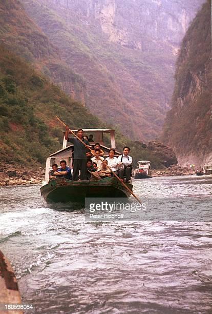 3Schluchten Yangtzekiang China Asien Reise Fluss Flüsse Schiff Boot PassagierFähre Ausflug Steilufer