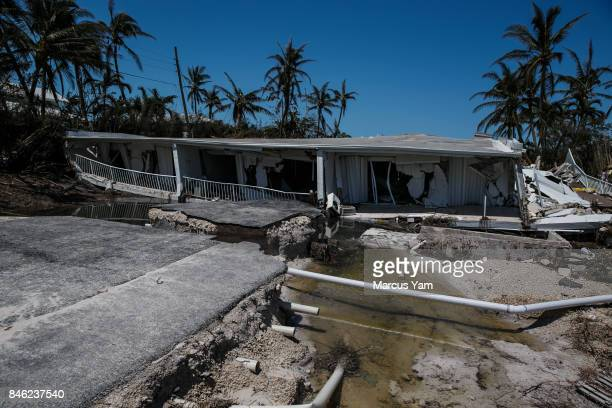 A 3story condominium has collapsed after Hurricane Irma send a storm surge and eroded the building foundations in Islamorada Florida Keys on Sept 12...