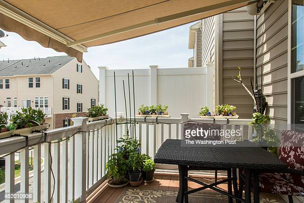 The back deck off the kitchen in Lee and Cindy Kincaid's townhome at Dakota Crossing on June 3 2014 in Washington DC
