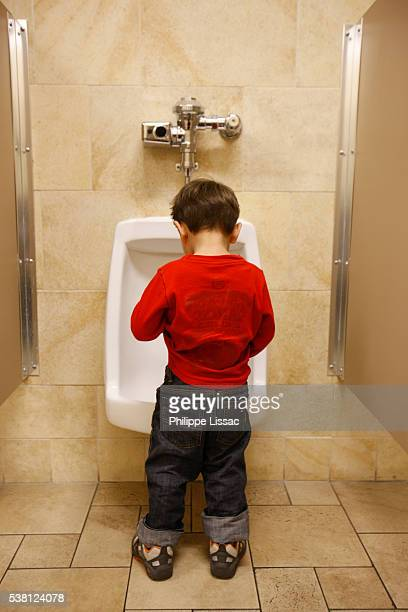 3-year-old having a pee