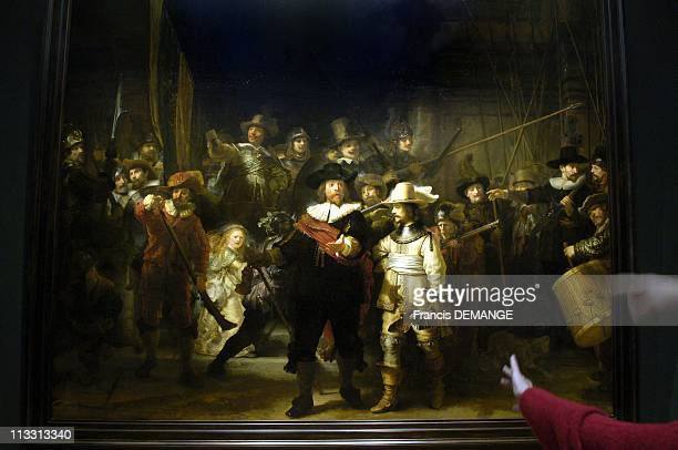 400Th Anniversary Of Dutch Art Master Rembrandt On February 2006 In Amsterdam Netherlands Here The Militia Company Of Captain Frans Banning Cocq AKA...