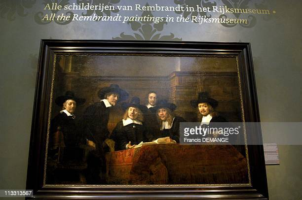 400Th Anniversary Of Dutch Art Master Rembrandt On February 2006 In Amsterdam Netherlands Here The Wing Of The Rijksmuseum Dedicated To The Exhibit...
