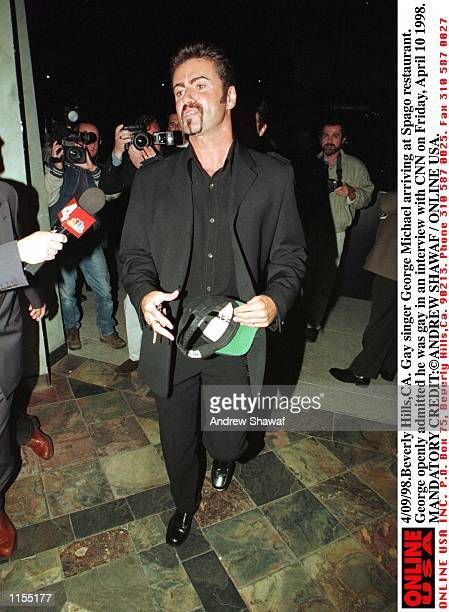 Beverly HillsCA Gay singer George Michael arriving at Spago restaurant George openly admitted that he was gay in an interview with CNN on Good Friday...