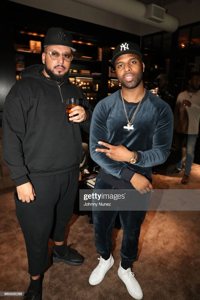 40oz Van and Daniel Daley Attend The dvsn 'Morning After' Album Release Listing Session at 120 Wooster Street on October 11, 2017 in New York City.