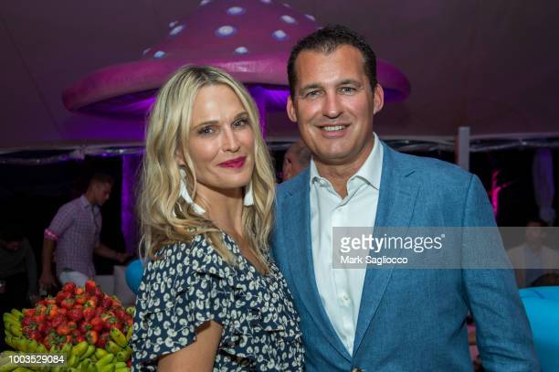 Stacey Bennett Chris Robbins and Lisa Golden attend Hamptons Magazine's 40th Anniversary Bash by Lawrence Scott Events presented by Compass at...