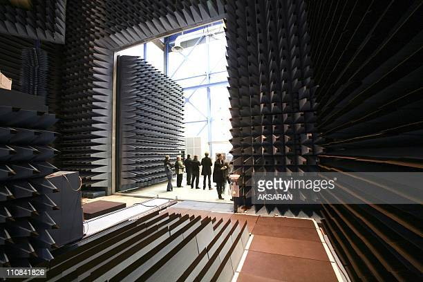 40Th Anniversary For French National Space Studies Centre In Toulouse France On December 19 2008 Anechoic chamber at the French National space...