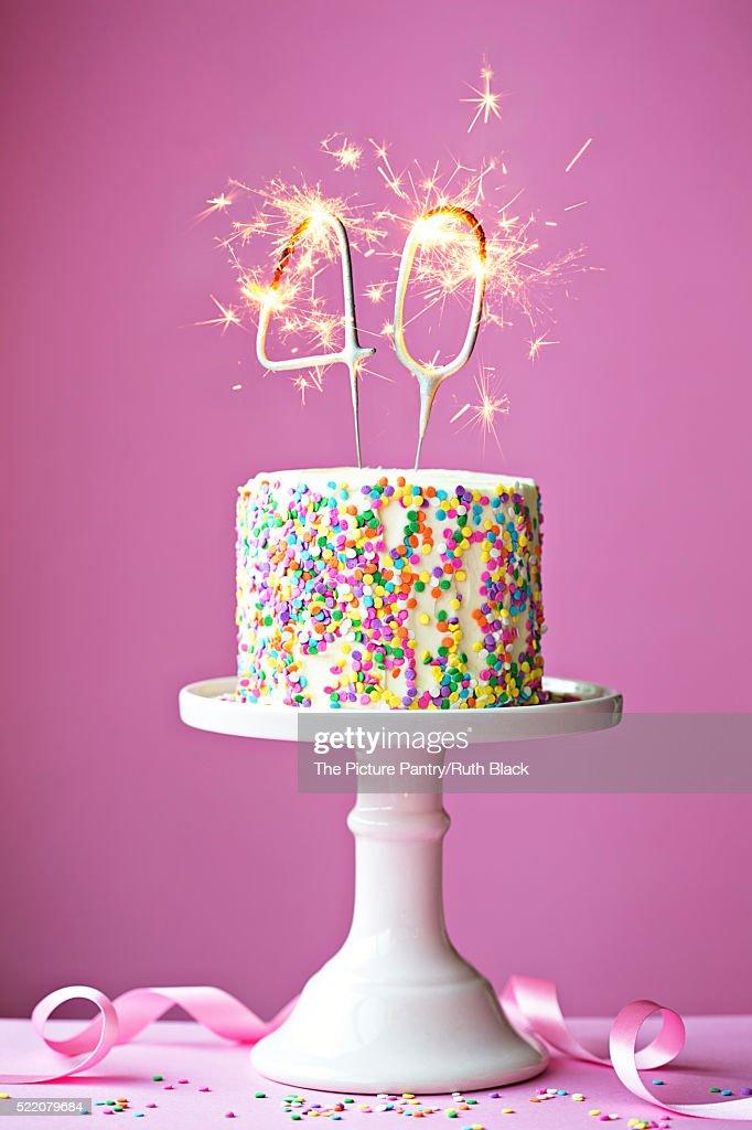 40th birthday cake : ストックフォト