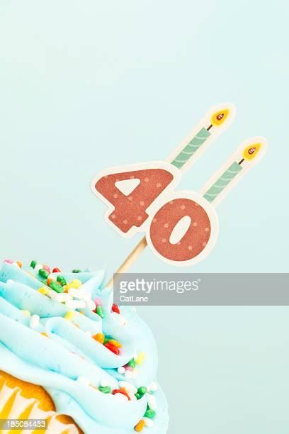 40th Birthday Cupcake