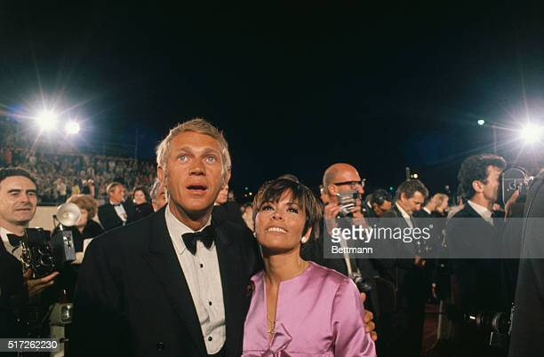Actor Steve McQueen and his wife arrive for the Academy Awards