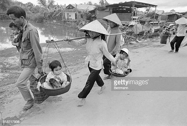 4/10/1972Quang Tri South Vietnam These are some of the people who flee from Quang Tri April 3rd as North Vietnamese forces launch a major attack...