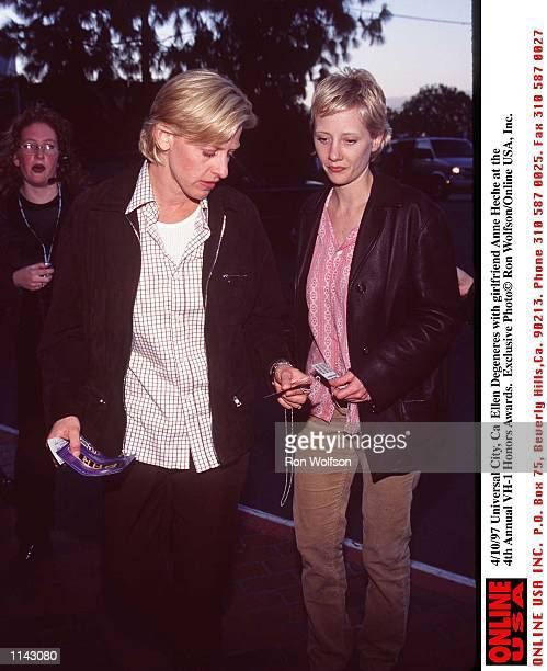 Ellen DeGeneres with Girlfriend Anne Heche at Rehersals for the 4th Annual VH1 Honer Awards