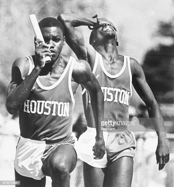 4/12/1980San Jose CA The University of Houston's Greg Turner registers his dismay as he realizes his team will be disqualified during the running of...