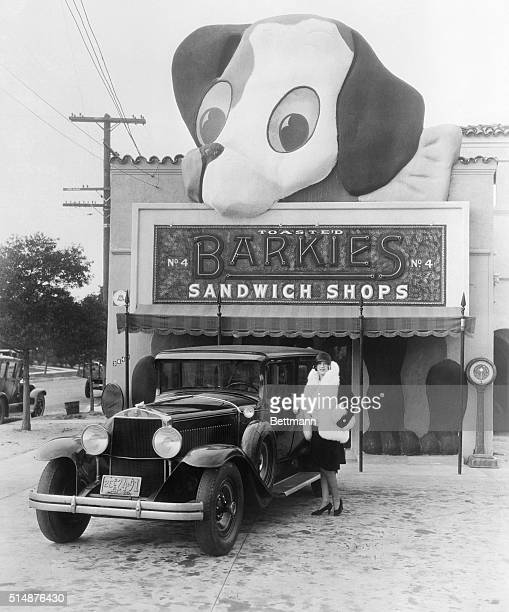4/1/29Hollywood California The word 'hot dog' has been abbreviated to 'barkies' in Hollywood California America's movie mecca and this unique stand...