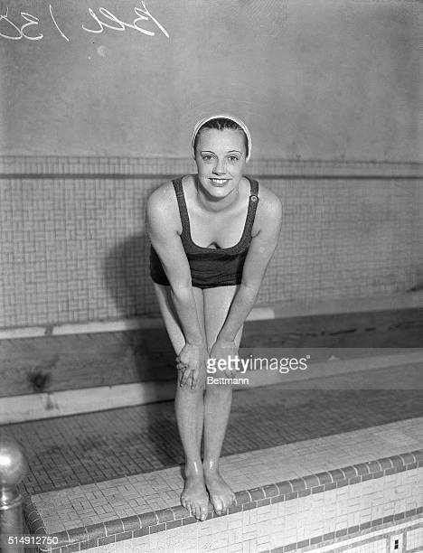 4/13/1931New York NY Eleanor Holm of New York a competitor in the national swimming meet being held at the Women's Swimming Association pool