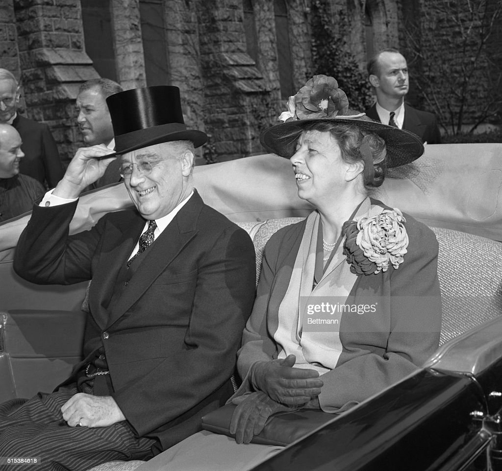 Franklin and Eleanor Roosevelt : News Photo