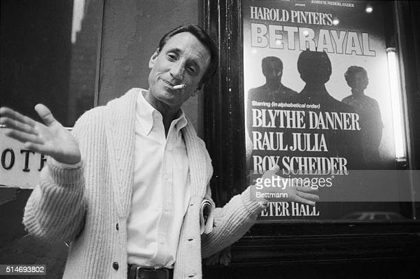 Roy Scheider who has been nominated for Best Actor in 'All That Jazz' strikes one of the familiar poses he used during the film as he appears at the...